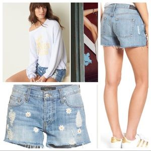 NWT! Rails Jesse Embroidered Cutoff Denim Shorts